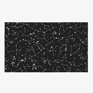 Star Constellations Rug space Rug kids Rug constellation Floor Rug black Rugs