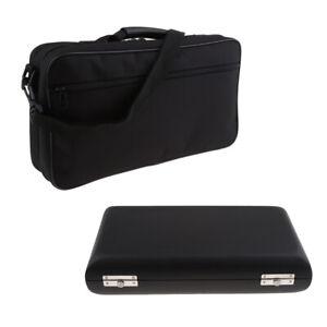 Portable Oboe Hard Case and Protective Canvas Bag Single-shoulder Handbag