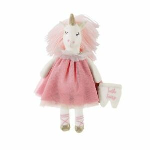Mud Pie E1 Blush Baby Girl 8in H Unicorn Tooth Fairy Doll Toy 12110217
