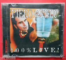 cd compact disc piero pelù 100% live el diablo il segno io ci sarò fuori di qui