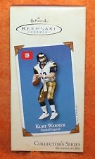 "Hallmark Keepsake Kurt Warner ""Football Legends"" Christmas Ornament 2002"