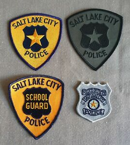 USA - 4 x Different Salt Lake City Police Patches - Utah