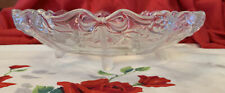 VTG Mikasa Walther Crystal Centerpiece Bowl Bows Ribbons Roses Flowers W.Germany