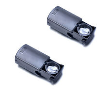 2PCS 30x Magnifier LED Lighted Currency JewelersJewelry folded Loupe Loop Glass