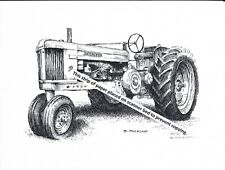 John Deere Farm Wagon at Implement Dealers ~ Pen /& Ink Print