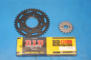 Keeway Superlight 125 carb model chain and sprocket kit DID heavy duty