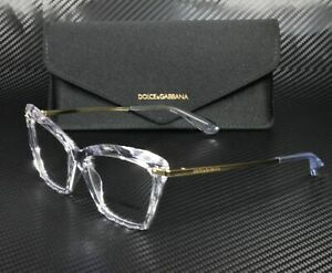 DOLCE & GABBANA DG5025 3133 Crystal Demo Lens 53 mm Women's Eyeglasses
