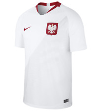 Nike Poland 2018 Stadium Home Soccer Jersey Dr-Fit Breathe 893893-100 Mens M