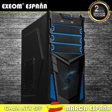 Caja ATX Ordenador Pc Gaming de Sobremesa Torre Kron Azul USB Frontal Sin Fuente