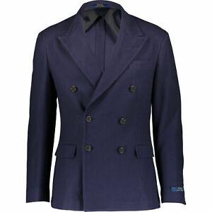 POLO RALPH LAUREN Men Navy Double Breasted Blazer - Size 42
