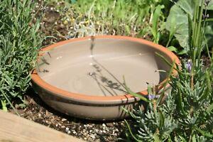 Grey Ceramic Bird Bath