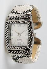 Chico's Women's Antique Silver-Tone Snakeskin Pattern Bangle Watch CH3060SX