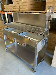 Stainless Steel Commercial Charcoal BBQ - Argentinian Grill Heights EX - DISPLAY