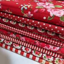 Red Floral Jelly Roll Bundle 24 strips 100% Cotton Fabric Poplin Material