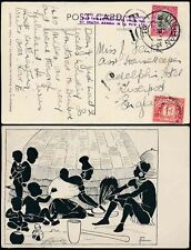 POSTAGE DUE GB 1d 1938 SOUTH AFRICA...PLEASE ADVISE RATE CACHET...NEWMAN ART PPC