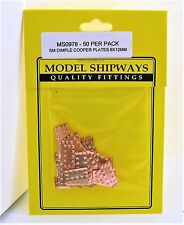 Model Shipways Fittings MS 0978 Small Dimple Copper Plates 6x12mm 50 Per PK