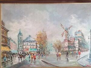 Dipinto,Quadro,Opera Arte,Painting artist Antonio De Vity Parigi