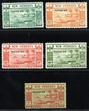NEW HEBRIDES BRIT. 1938 SC J6-10 VF OG MLH * RARE SET 5 POSTAGE DUE STAMP