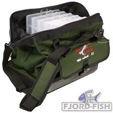 IRON Claw Wide Mouth II Angeltasche mit 6 Boxen Zubehör-Geräte-Tasche Tackle Bag