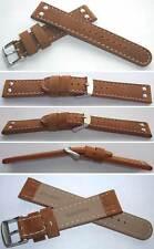 - NEU 2x2 NIETEN - ECHTLEDERUHRBAND 20 mm Typ: Ranger Bali Vintage Natur Braun