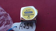 Vintage Stanley 10 ft  Power Lock Rule Measuring Tape  USA a254