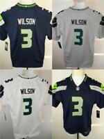 New Russell Wilson #3 Seattle Seahawks YOUTH Sizes S-M-L-XL Nike Jersey