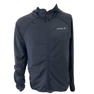 Cederberg Mens Zip Up Polyester Hooded Jumper Black Mens Medium Moisture Wicking