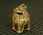 Chinese Bronze Kirin Figure Statue Tea Pet Incense Burner Buddha Good Stand