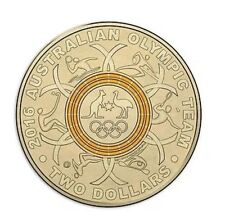 Australian Two Dollar $2 coin - 2016 - Rio Olympic Games - YELLOW - RAM Mint Bag