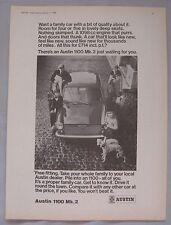 1969 Austin 1100 Mk2 Original advert