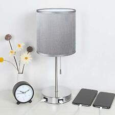 Lamp Table Bedside USB LED Light Desk Port Fast Charging 2 Bedroom NEW