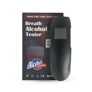Portable LCD Breath Alcohol Tester Breathalyzer Alcohol Detector Fast Test Black