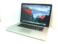 """Apple MacBook Pro 15"""" A1286 - i7-620M 2.66GHz - 8GB -128GB SSD - 1440X900- DVDRW"""