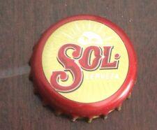 Sol Spanish beer bottle cap pin badge, new