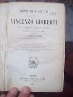 1856 PENSIERI SULLA LETTERATURA ITALIANA DI VINCENZO GIOBERTI. PRIMA EDIZIONE