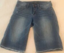LUCKY BRAND Women Boardwalk Bermuda Denim Stretch Distressed Shorts Women's 4/27