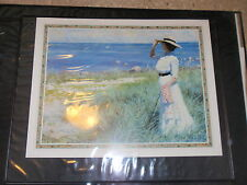 VINTAGE PAUL FISCHER POSTER PRINT A YOUNG WOMAN ON THE SHORE 1910 28 X 22