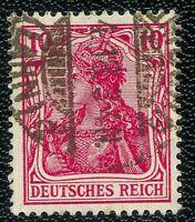 Deutsches Reich 1915 - 1919  Germania / Mi , 86 II d  - Geprüft , Gestempelt .