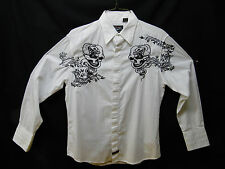 GUITAR FENDER CUSTOM SHOP BY FENDER ROCK AND ROLL RELIGION BUTTON UP SHIRT (MED)