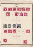 austria postage due stamps  on album page ref r11473
