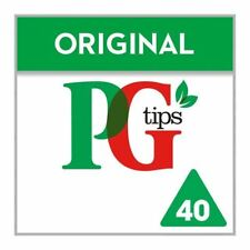 PG tips Pyramid Teabags - 40 per pack (0.26lbs)