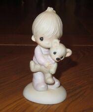 Precious Moments Enesco Jesus Loves Me Boy/Teddy Bear Figurine 1978 Candle Mark