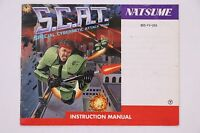 S.C.A.T. NES Nintendo Manual Only