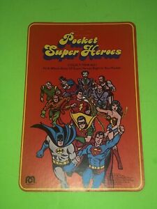 1979 Mego Pocket Heroes DC Comics Red Backing Card! Batman Superman Shazam!
