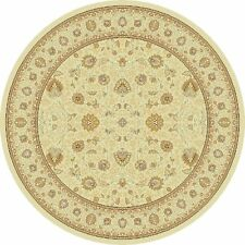 Round CREAM BEIGE Traditional Persian Oriental ZIEGLER Design Rug Small - Large