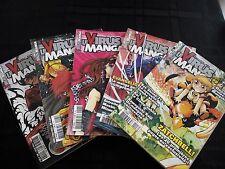 Lot 5 Magazines Manga Le Virus Manga / 2004