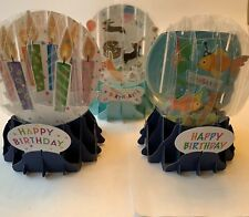 Up With Paper Pop-Up Globe Birthday Cards Combo Of 3 Globes! Great Deal!