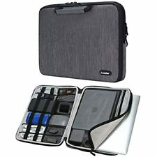ICozzier 14 Inch Handle Laptop Briefcase Electronic Accessories Organizer Case -