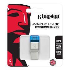 Kingston MobileLite Card Reader Duo 3C  FCR-ML3C USBType C  Micro SDHC/SDXC-UK