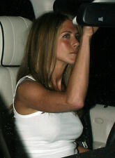 Jennifer Anniston 8X10 candid in white top night time 2